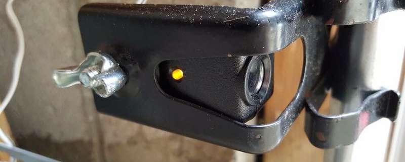 Garage Door Sensor Yellow Light Having Issues Follow
