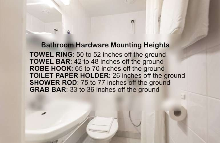 Towel Ring Height And Other Fixtures Proper Measurements